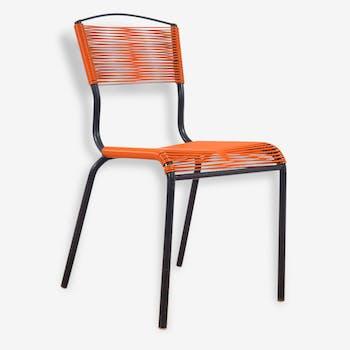 Chaise vintage scoubidou