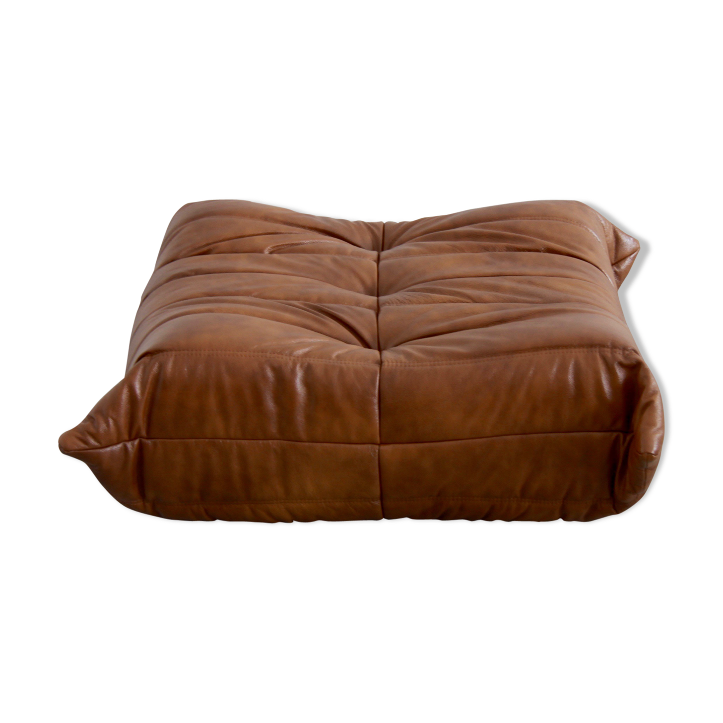 Ottoman Togo Leather By Michel Ducaroy For Ligne Roset Leather
