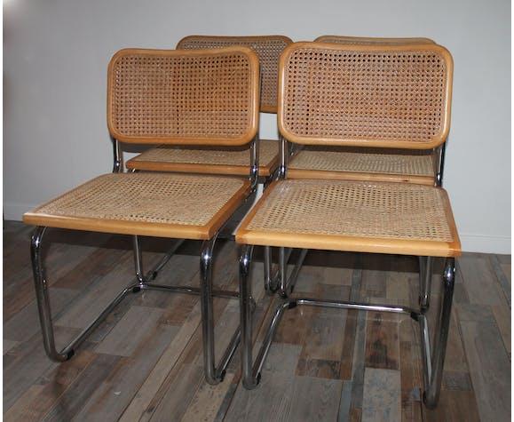 Lot 4 chaises Marcel Breuer Cesca B32