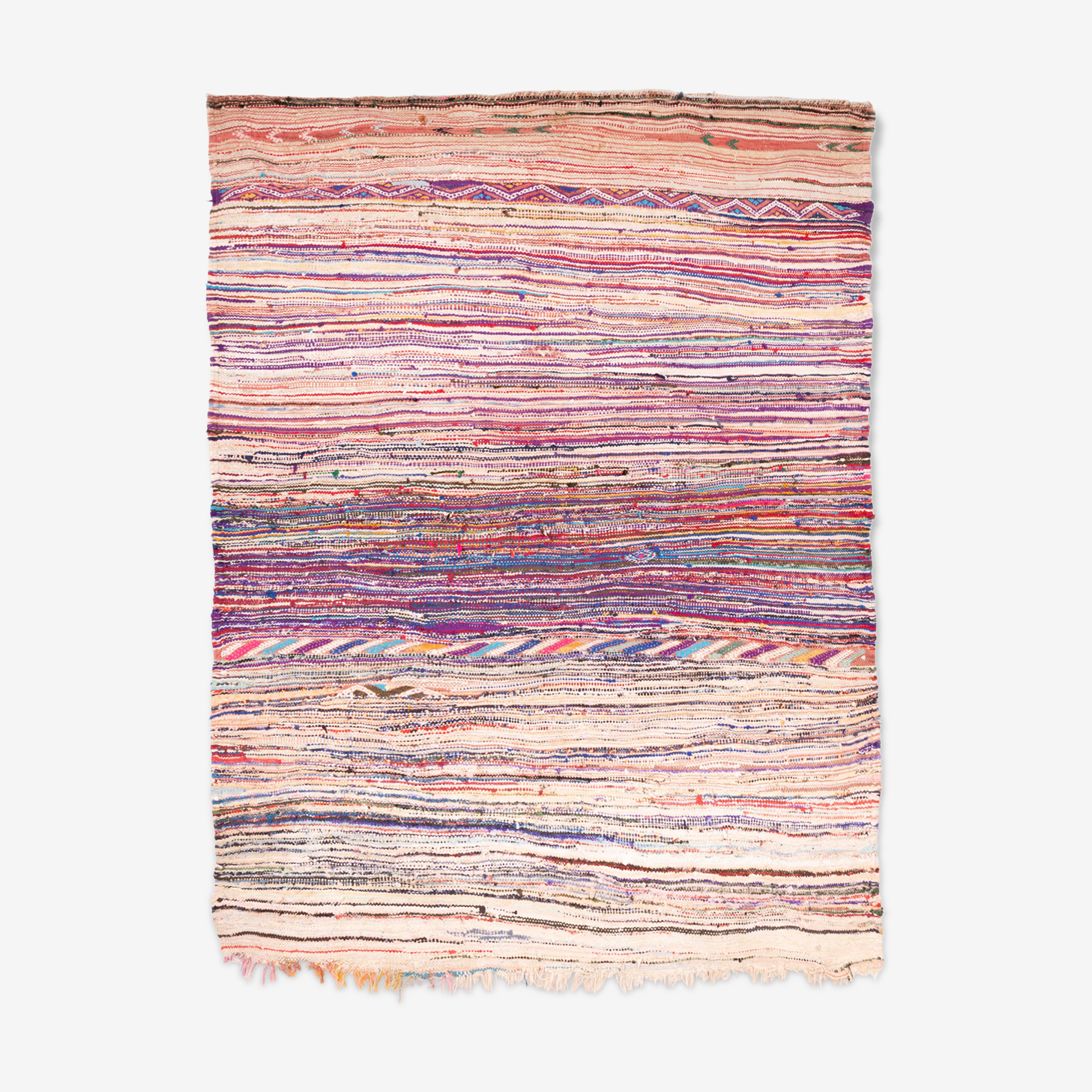 Tapis Kilim boucherouite 186 x 155 cm