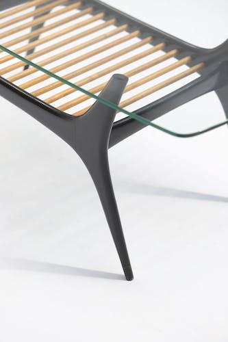 Table basse du milieu du siècle conçue par Alfred Hendrickx pour Belform en 1958.