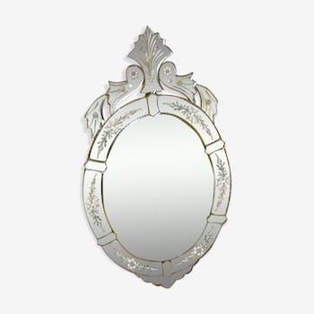 Miroir venitien ancien 50x91cm