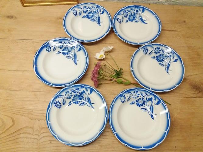 Set 6 assiettes creuses Digoin
