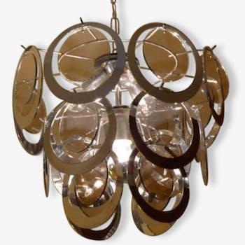 Pendants metal circles suspension