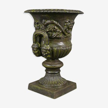 Medici vase in cast iron with handles