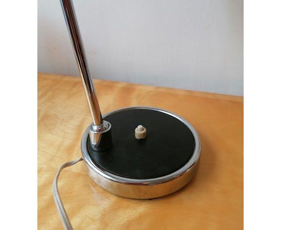 Lampe diabolo étal et chrome 2 rotules 1970