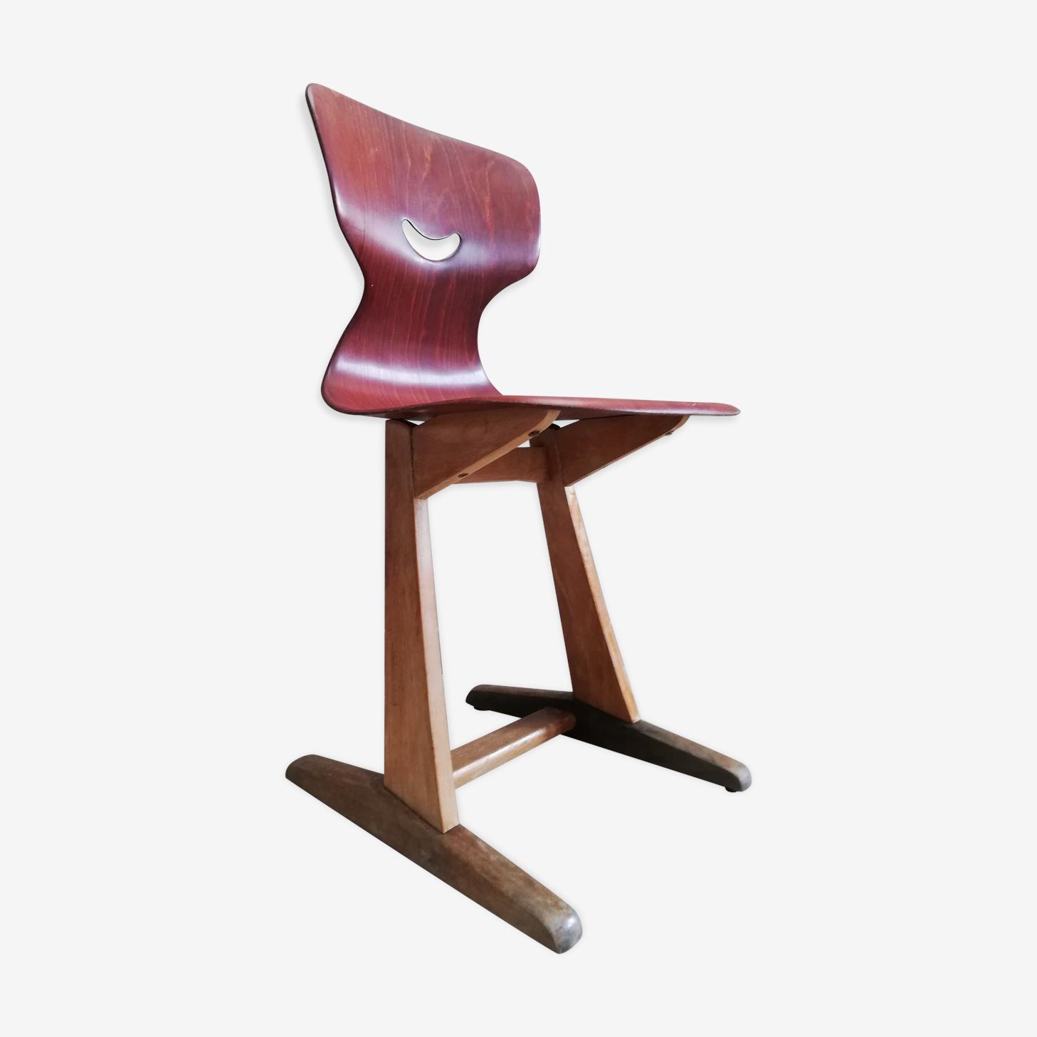 Chaise école enfant par Adam Stegner pour Pagholz Flototto vintage 50