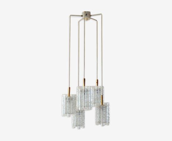 Hanging cascade lampe by Doria Leuchten 1960s 1970 s