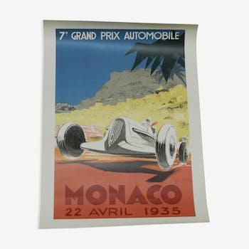 Monaco Grand Prix Poster of 1935