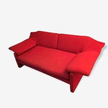 Canapé Arflex rouge fin des années 80