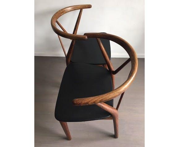 Chaises en bois de rose par Henning Kjaernulf pour Bruno Hansen 1963
