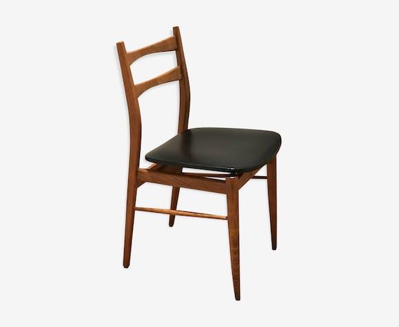 chaise scandinave bois et ska bois mat riau noir. Black Bedroom Furniture Sets. Home Design Ideas