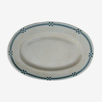 Creil and Monterau Oval Plate - Nancy Service