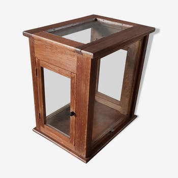 Old glass scale box in teak
