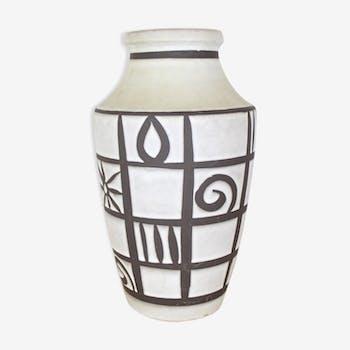 Floor vase 40cm Capron style, West Germany ceramics