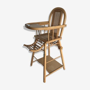 Chaise haute canevas