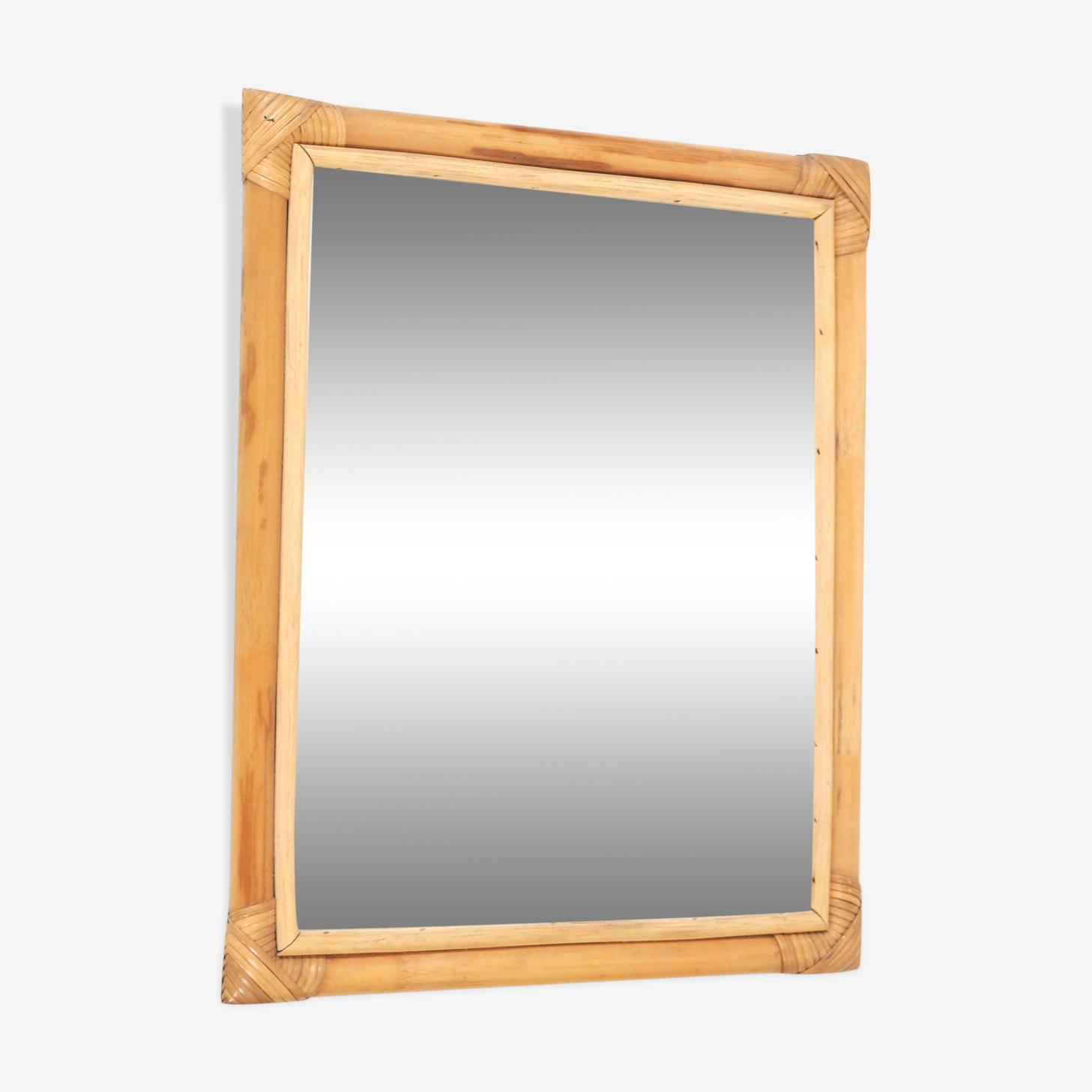 Mirror rattan 46x56cm