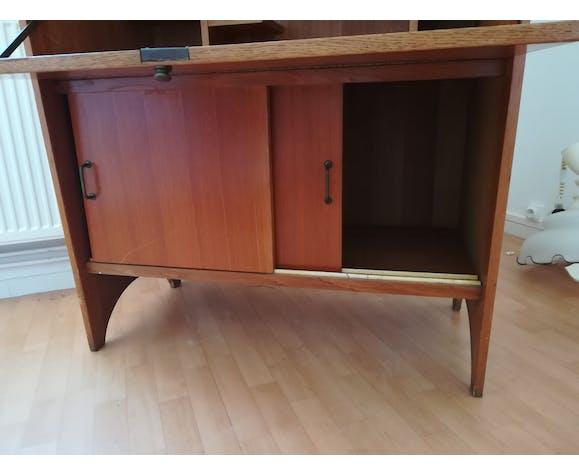 Scandinavian vintage design secretary with window and closet