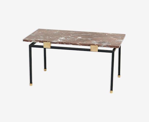 Table basse en marbre des années 1950