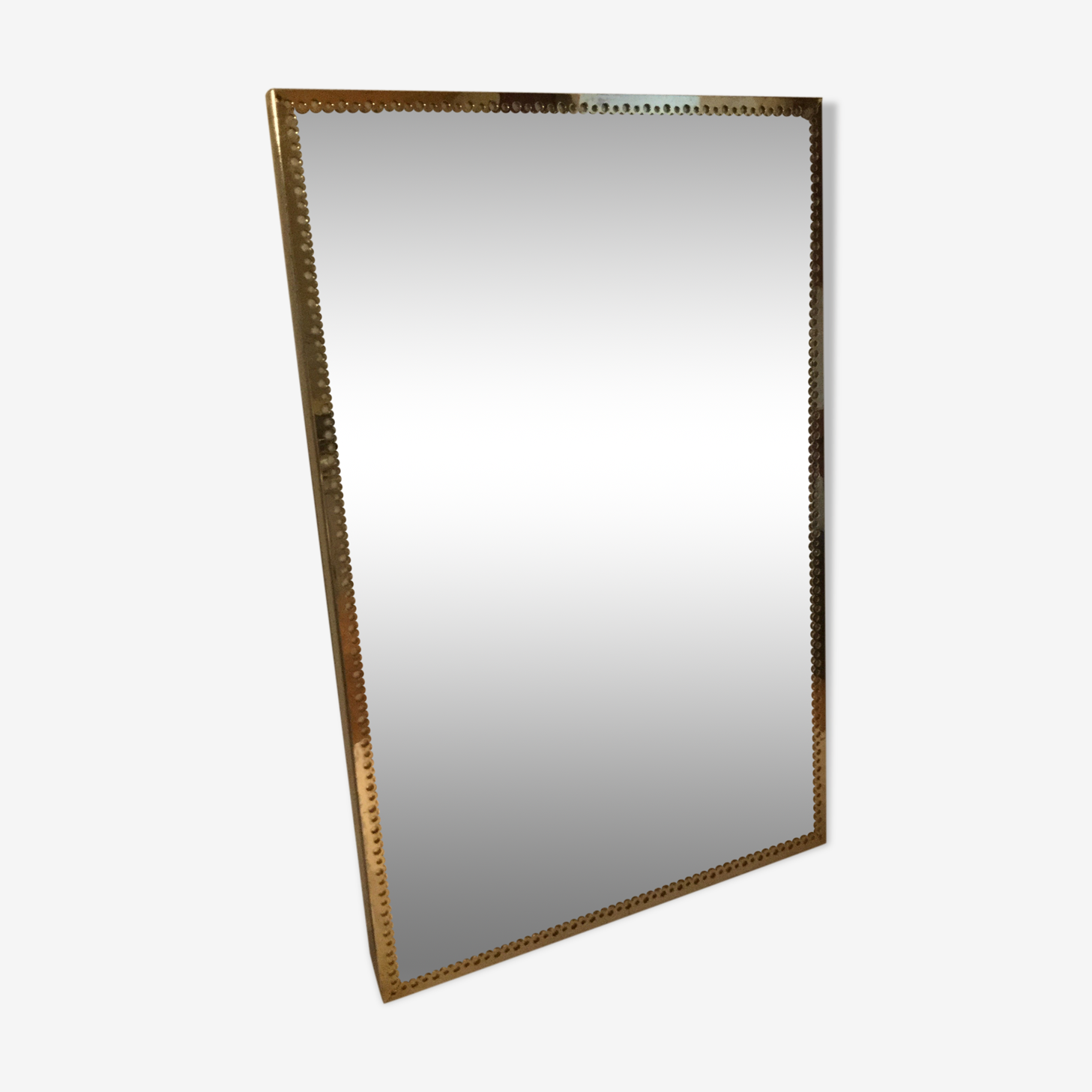 Miroir vintage en laiton 40 x 60cm