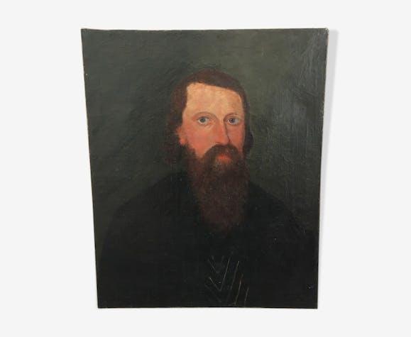 Portrait huile XIX