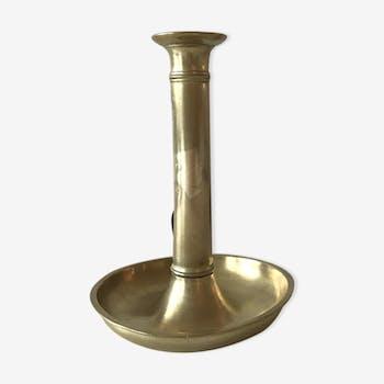 Former golden brass candlestick