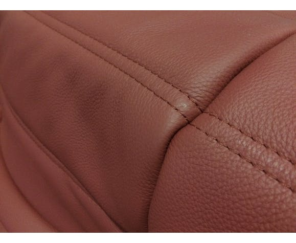 """Sofa 2 seater """"Togo"""" red leather by Michel Ducaroy for Ligne Roset"""