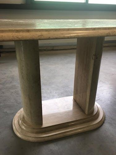 Table en travertin, italienne, circa 70