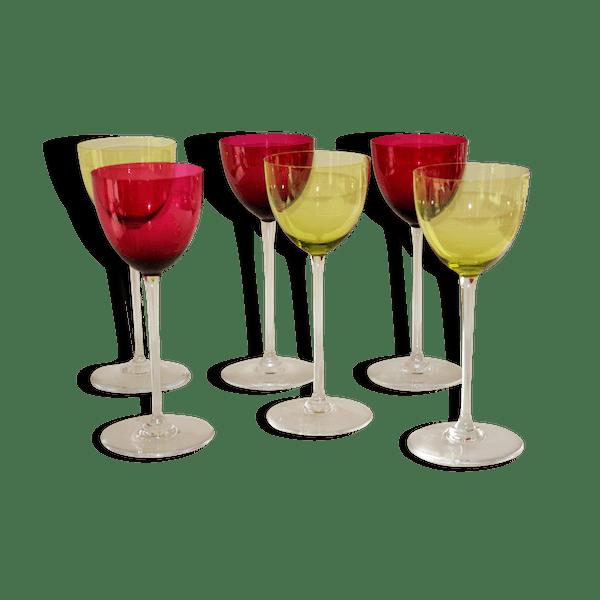 s rie de 6 verres vin du rhin roemer en cristal baccarat mod le perfection verre et cristal. Black Bedroom Furniture Sets. Home Design Ideas