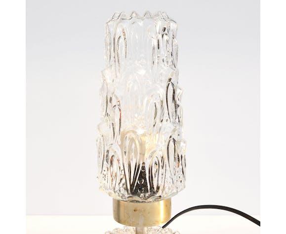 Lampe de chevet en cristal Baccarat, France 70s