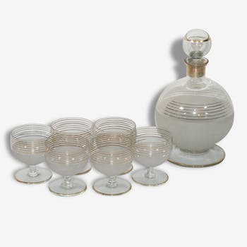 Service decanter and its 6 glasses