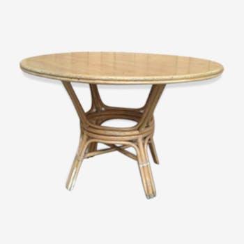 Table en rotin XXème