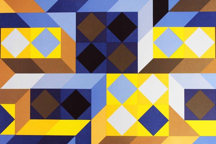 "Sérigraphie ""tridimor"" de Victor Vasarely 1969"