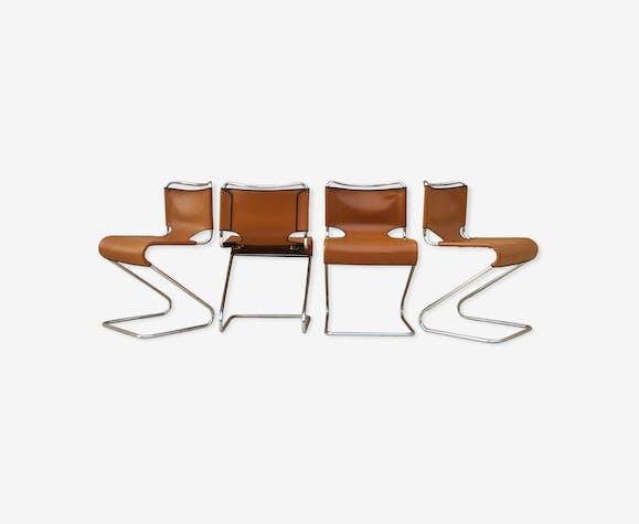 Suite de 4 chaises design fin années 50