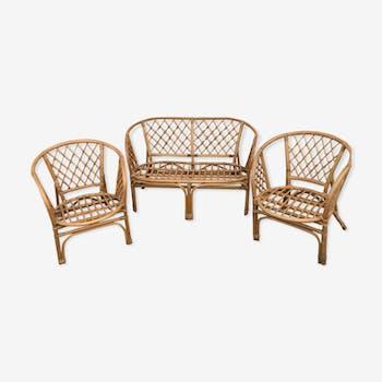 Rotin Sofa and Chairs