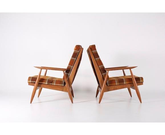 Pair of Marvelus reconstruction armchairs  1950