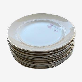 Set of 11 Dessert Plates.