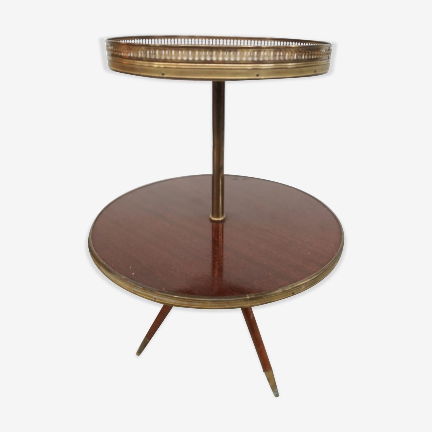 Table d'appoint années 60 pieds compas