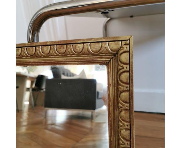 Miroir rectangulaire doré - 41x33cm