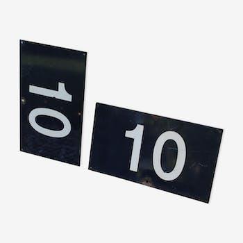 Suite de 2 plaques émaillées Sncf 10