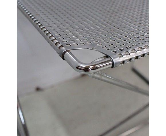 Suite de 5 chaises en métal chromé empilables « nuova x-line » par n.j. Haugesen Magis 1977