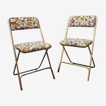 Pair of vintage Lafuma chairs
