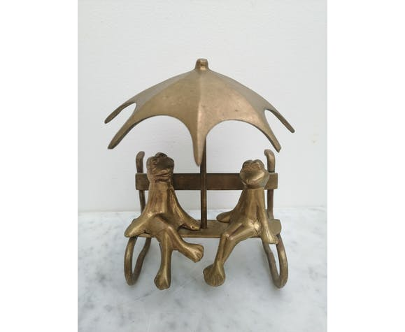 Couple of brass frogs
