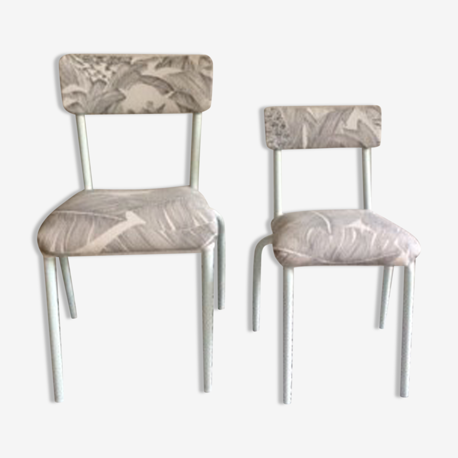 Paire de chaises enfant relookées