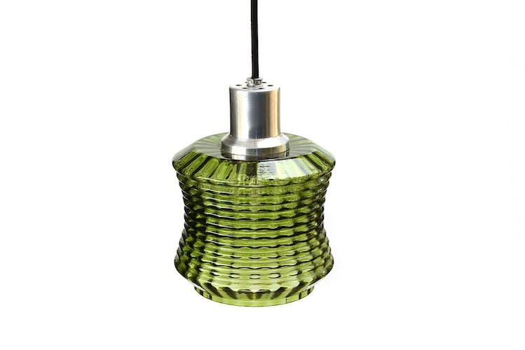 Suspension verre vert clair années 1960
