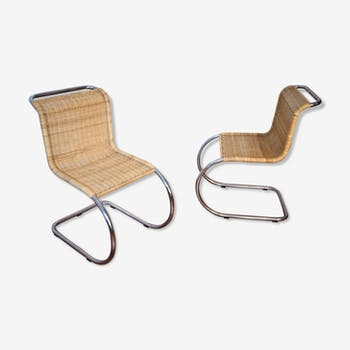Chairs MR10 by Ludwig Mies van der Rohe