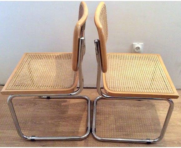 Paire de chaises Marcel Breuer Cesca B32