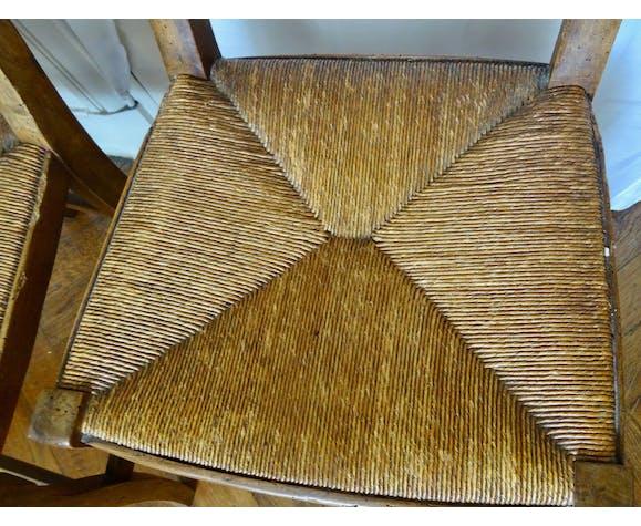 Paire de chaises paillées XIXe
