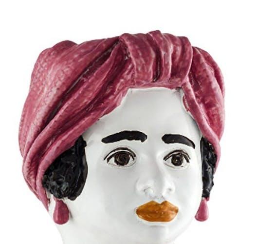 Vase tête grande rose femme