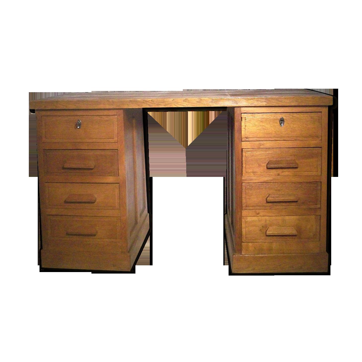Bureau américain en bois tiroirs bois matériau bois